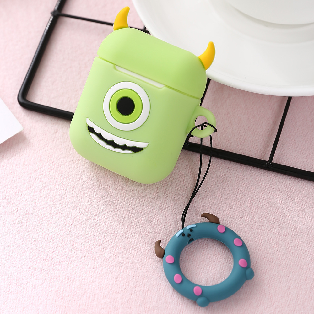 Cartoon Silicone Soft Shell Protective Case for IOS Airpods Wireless Bluetooth Headset Charging Box 1#