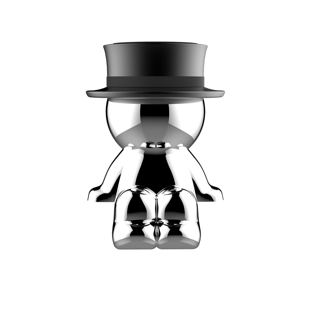 Mad Hat Funny Mobile Phone Stand Suction Cup Magnet Car Decoration Cell Phone Holder black- A