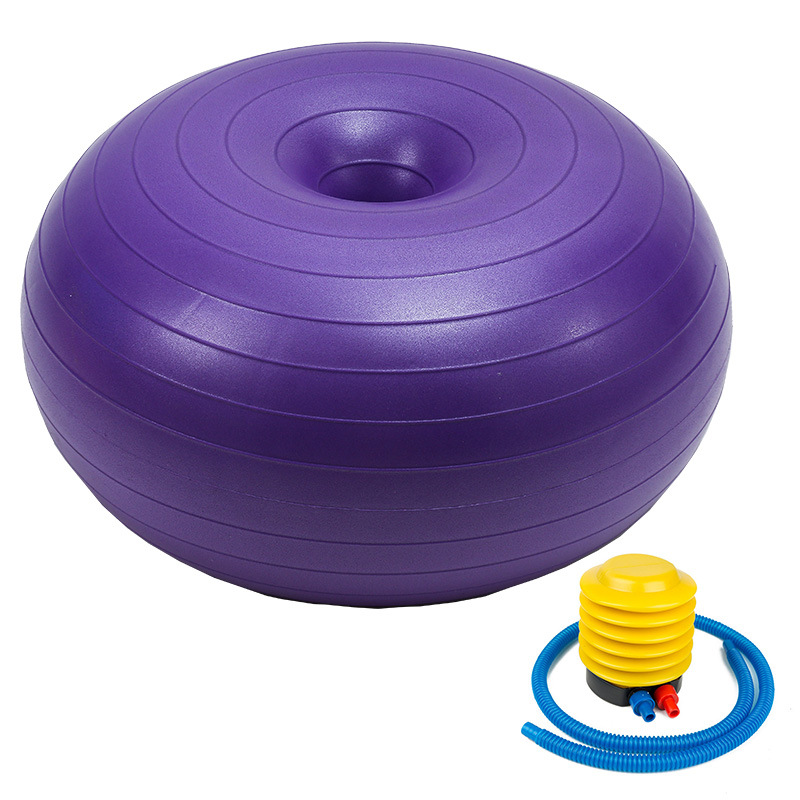 Donut Yaga Ball Donut Exercise Workout Core Training Stability Ball for Yoga Pilates Balance Training purple