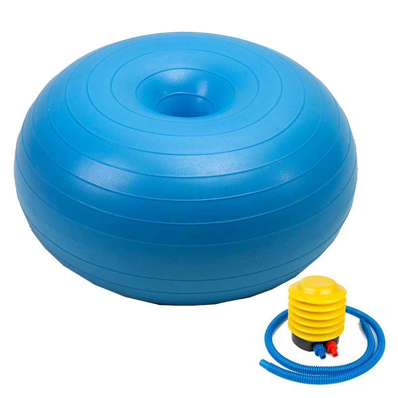 Donut Yaga Ball Donut Exercise Workout Core Training Stability Ball for Yoga Pilates Balance Training blue