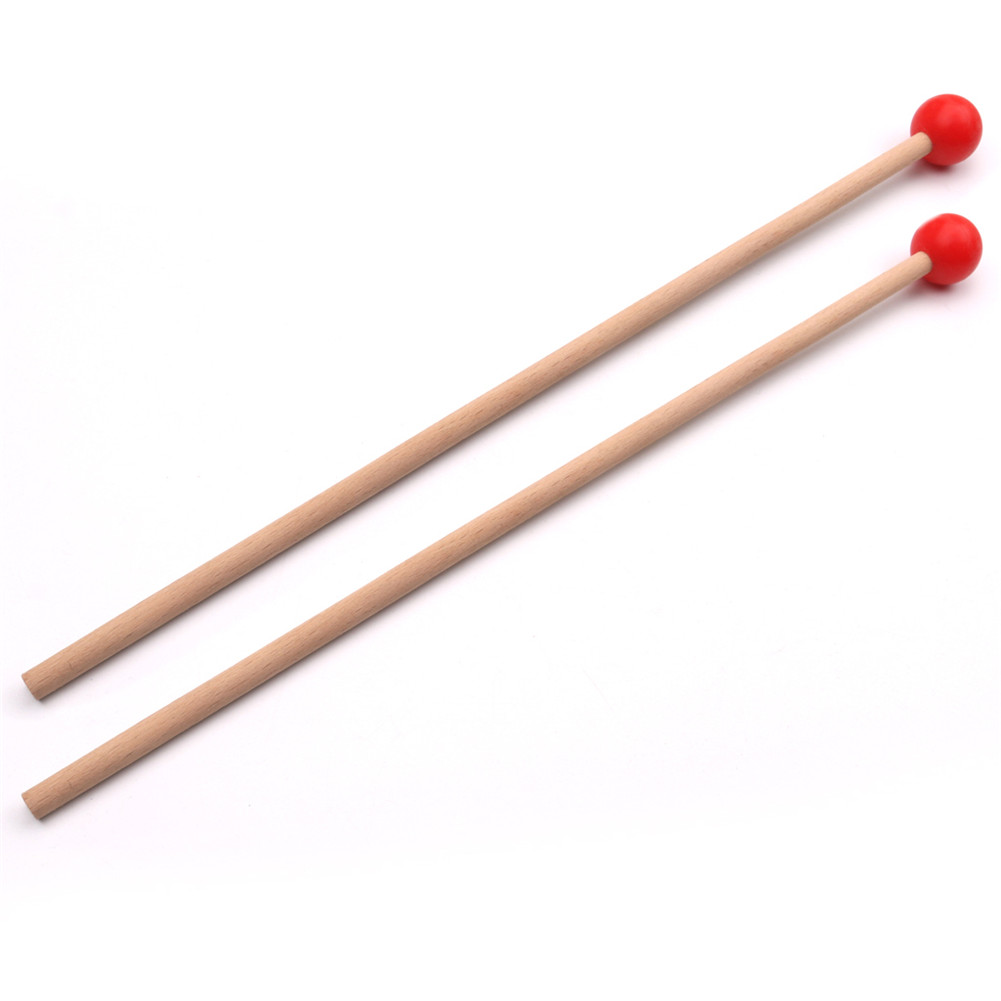 36.5cm Long Marimba Sticks Mallets Xylophone Piano Hammer Percussion Instrument Accessories (OPP) red