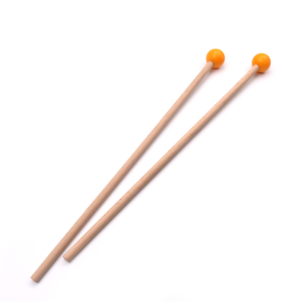 36.5cm Long Marimba Sticks Mallets Xylophone Piano Hammer Percussion Instrument Accessories (OPP) Orange