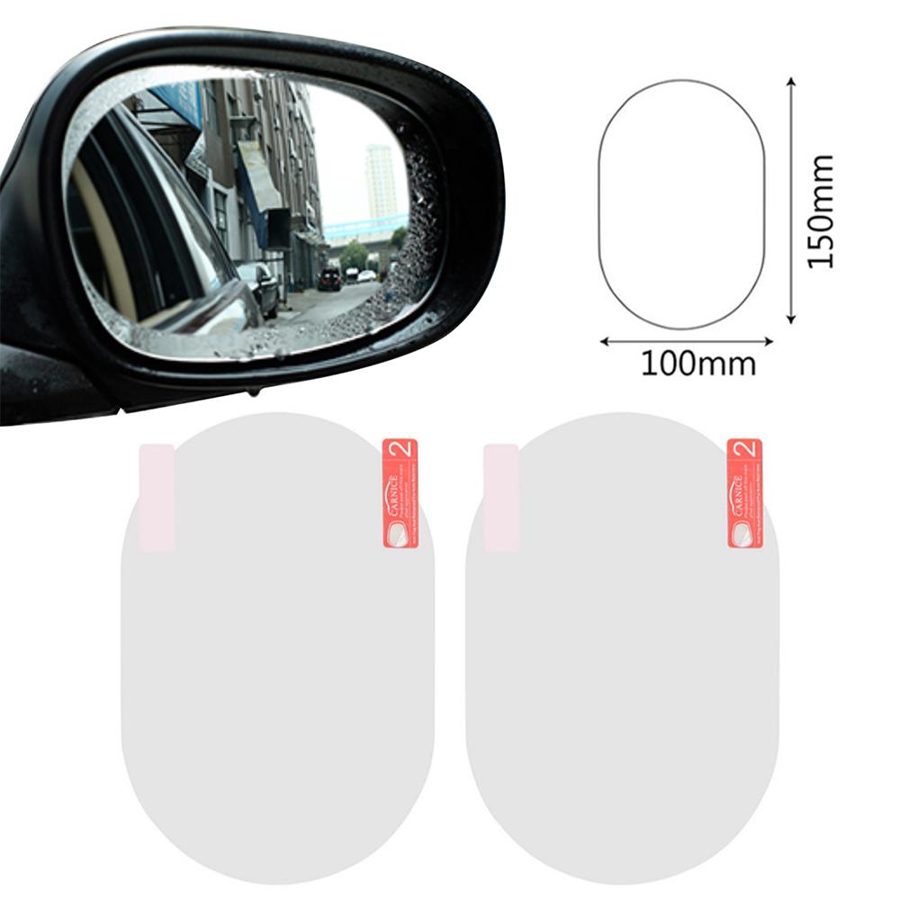 2pcs / Set Car Sticker Anti Fog Car Rearview Protective Film For Car Mirror Transparent Window Waterproof Anti-glare Membrane Rear view mirror ellipse
