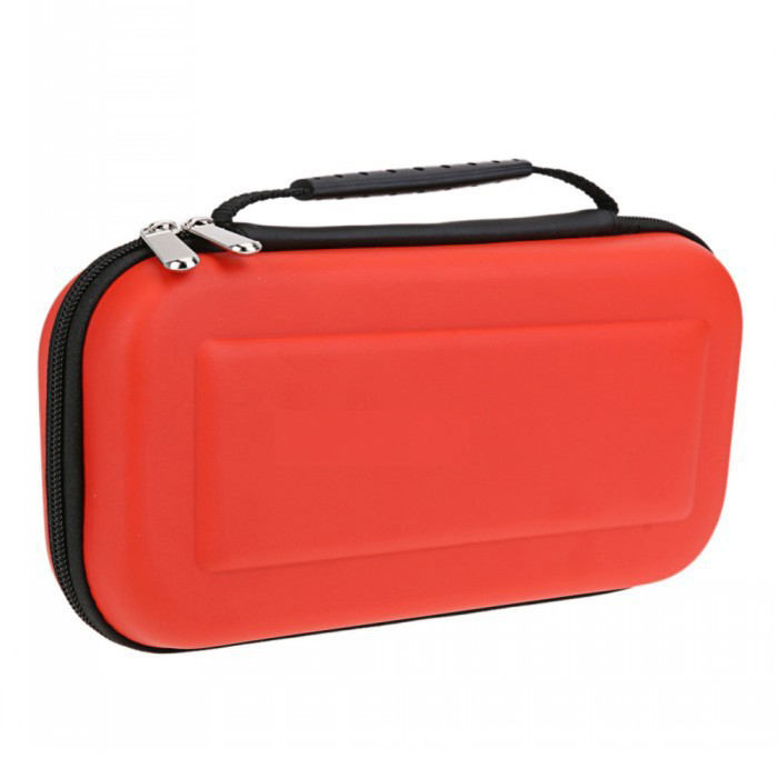 Portable Hard Protective Handle Carry Case Cover Zipper Protective Shell red