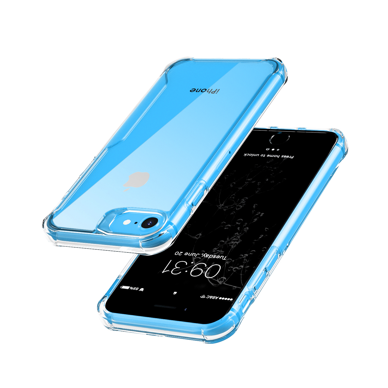 Mobile Case for IPhone SE Soft TPU PC Salicone Anti-drop OPP Bags  Transparent