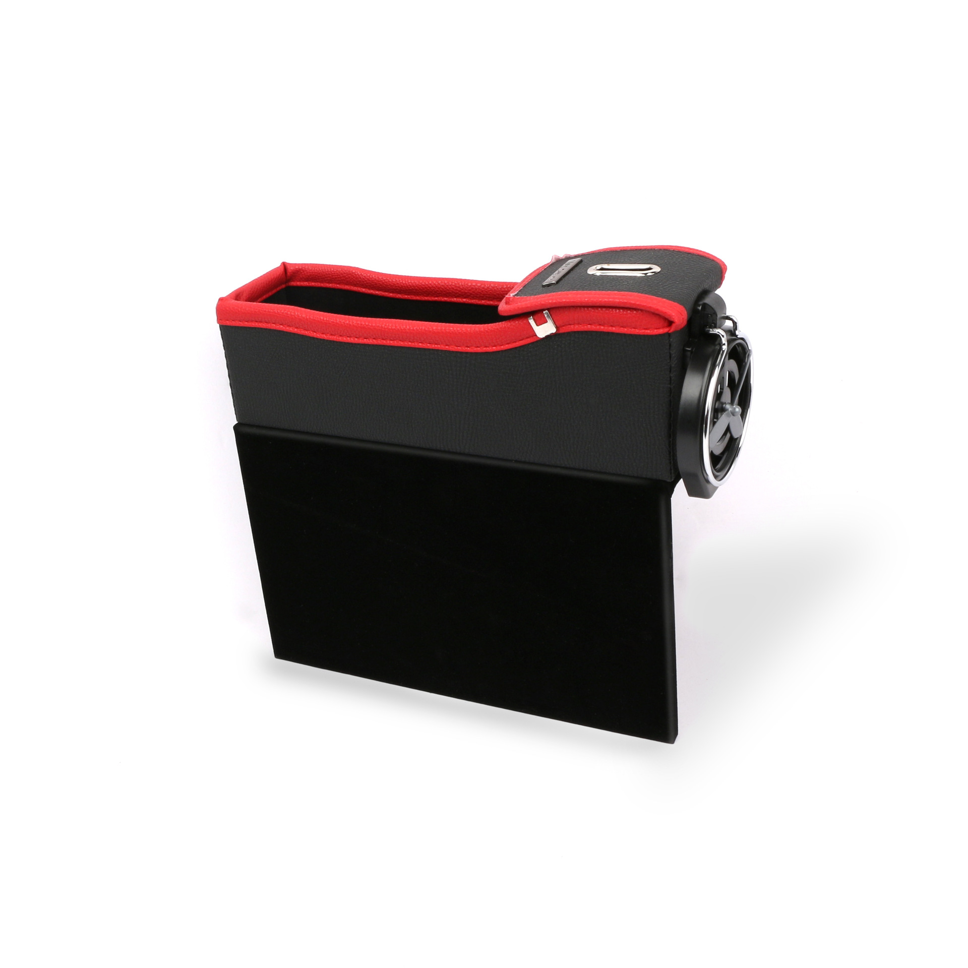 Car Seat Storage Box Cup Drink Holder Organizer Auto Gap Pocket Stowing Tidying for Phone Pad Card Coin  Black and red master driving