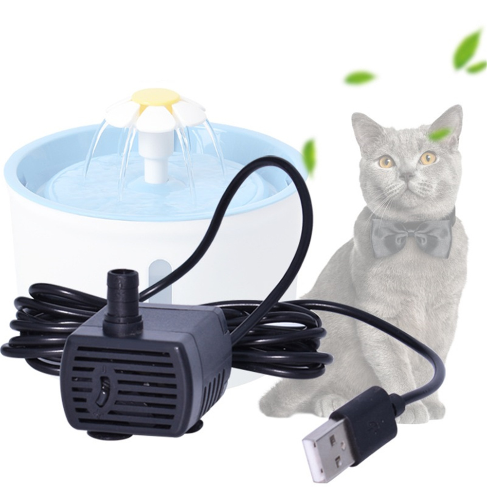 5V DC  Pet Cat Dog Water Fountain  Pump  Replacement Parts For Water Dispenser Black 2V