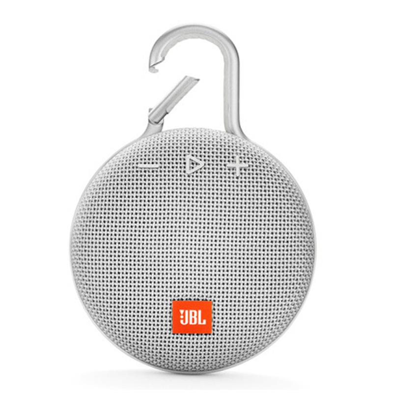 JBL Clip3 Speaker Wireless Portable Bluetooth Streaming IPX7 Waterproof 1000mAh Rechargeable Mini Portable Loudspeaker white