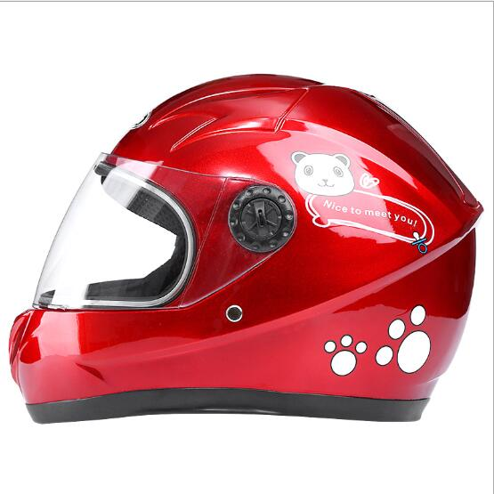 Winter Motorcycle Riding Helmet Electric Bike Helmet Children Outdoor Safety helmet red