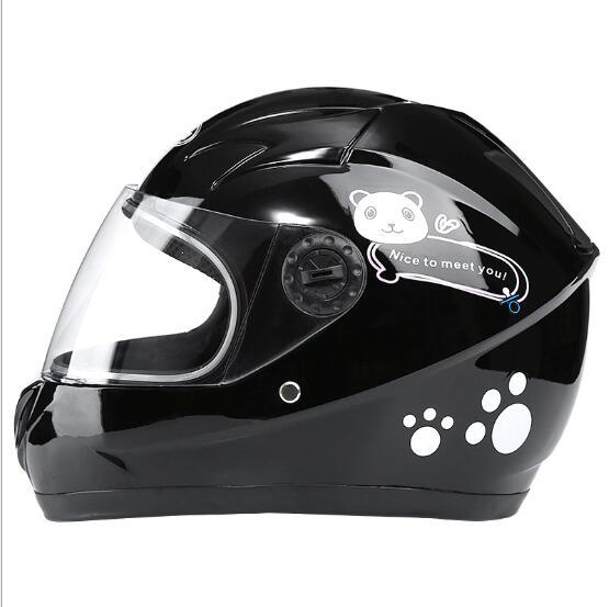 Winter Motorcycle Riding Helmet Electric Bike Helmet Children Outdoor Safety helmet black