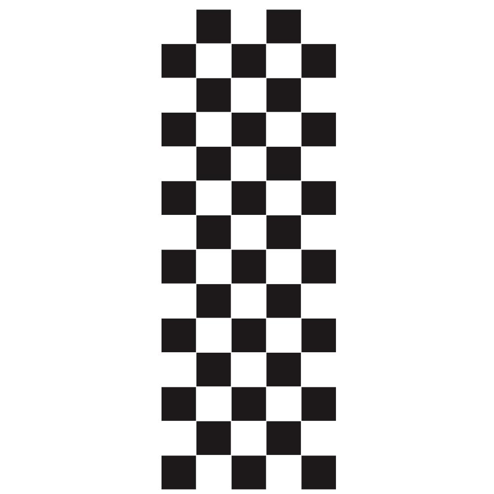 Car Covers Vinyl Racing Sports Decal Head Sticker Stripe Plaid Pattern Car Decal Accessories black