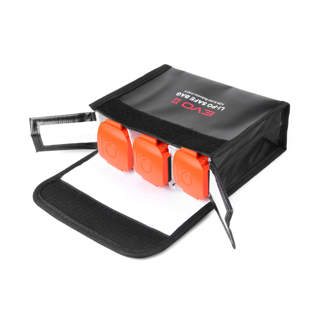 LiPo Safe Bag Explosion-proof Battery Storage Bag for Autel EVO II/Pro/Dual Series Drone Install three batteries