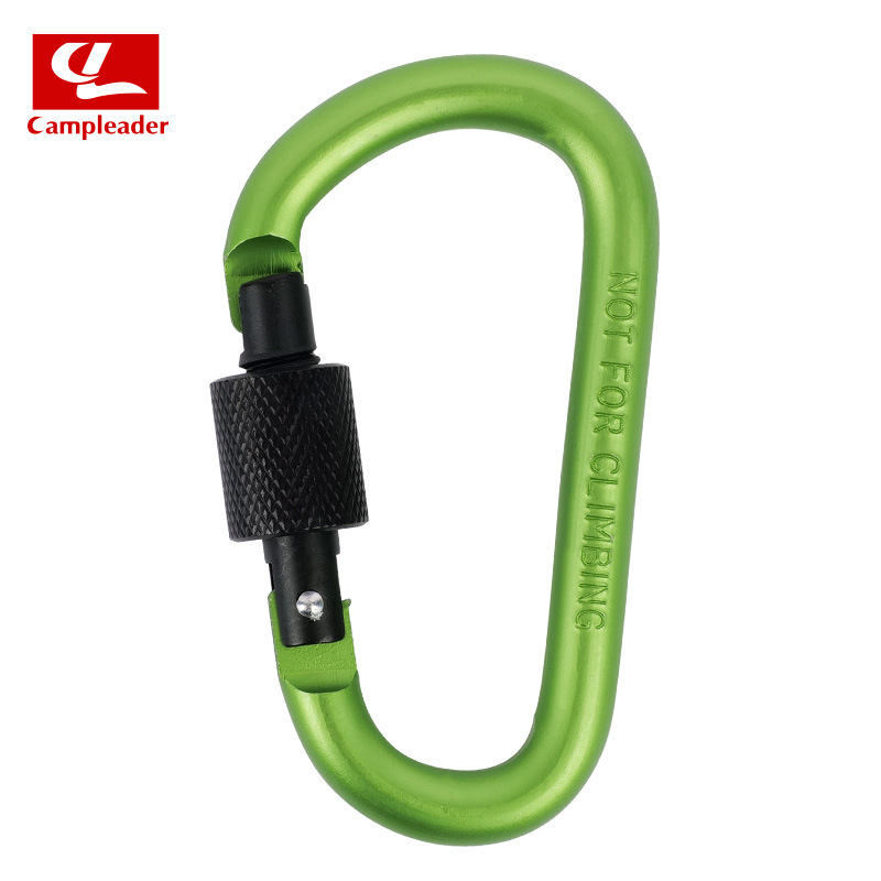 Aluminium Alloy Keychain Climbing Button Carabiner Safety Buckle Outdoor Camping Accessories green
