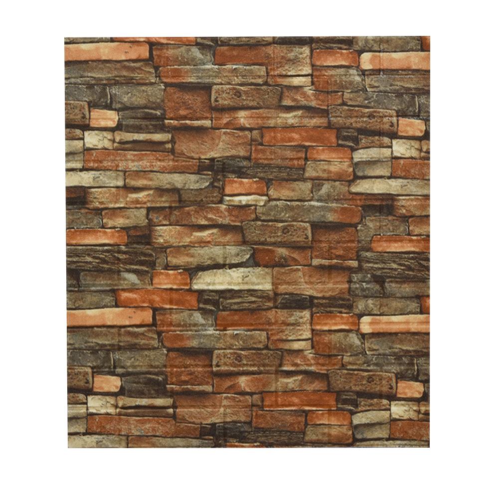 Foam Retro Style Brick Pattern Wall  Stickers Three-dimensional Self-adhesive Decorative Wallpaper Brick red brick