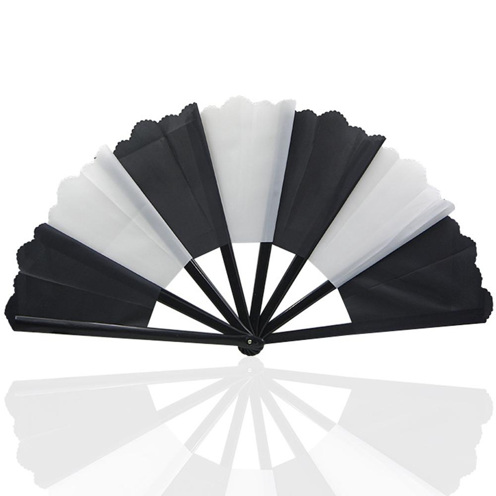 Thick Restore Broken Fan Funny Fan Multicolor Magic Props Black and white (black rod black and white cloth)