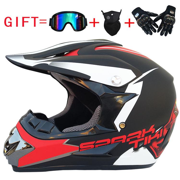 Fashion Outdoor Off Road Casco Motorcycle & Moto Dirt Bike Motocross Racing Helmet Set with Mask M