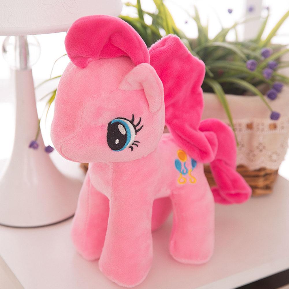 Little Pony Rainbow Plush Soft Kids Hug Stuff Toy 20cm Toy Doll Gift Pink