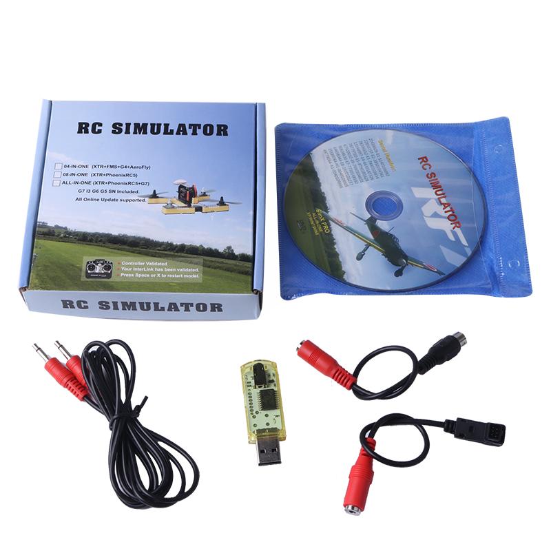 HIINST Computer Games RF7 22 in 1 RC USB Flight Simulator Set Fit for XTR G5 G6 G7 AeroFly PhoenixRC Sep6HY
