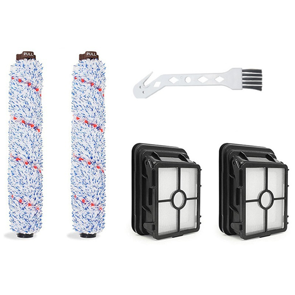 1set 1868 Roller Brush+1866 Hepa Filter For Bissell Crosswave 1785 17132 Series Robot Vacuum Cleaner Spare  Parts 1608683 5-piece set
