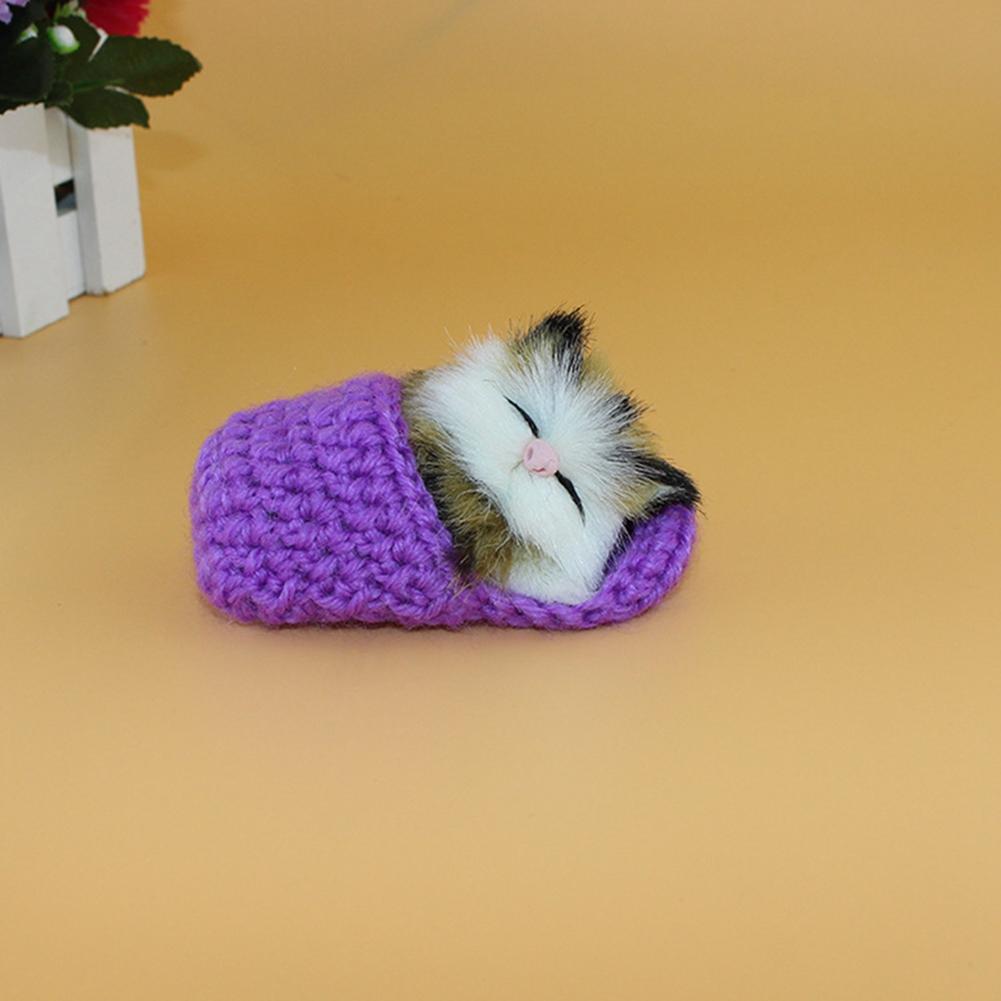 [EU Direct] A cute kitten stuffed animal is called a doll cat purple