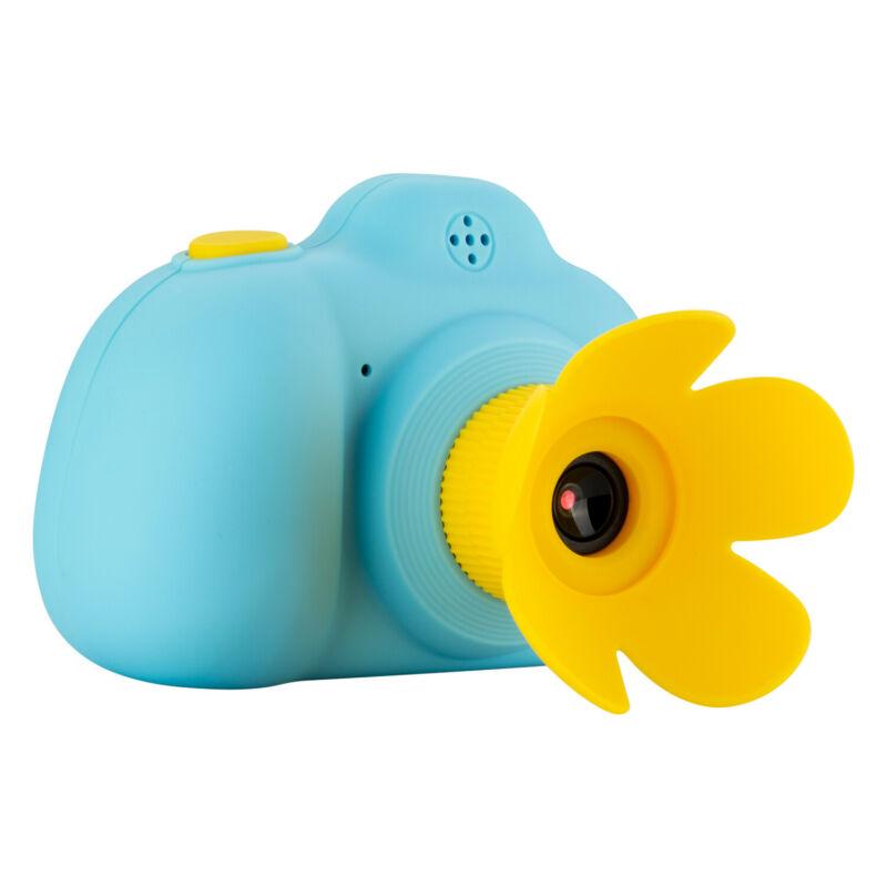 Kids Mini SLR Camera HD Double Lens CMOS Sensor 2.0inch LCD Screen Develop Imagination Child Birthday Gift blue