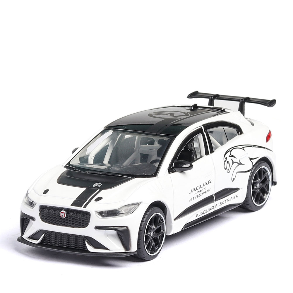 1/36 Children Simulated Pure Electric I PACE Toy Alloy Roadcar Car Model for Accessories Arrangement white