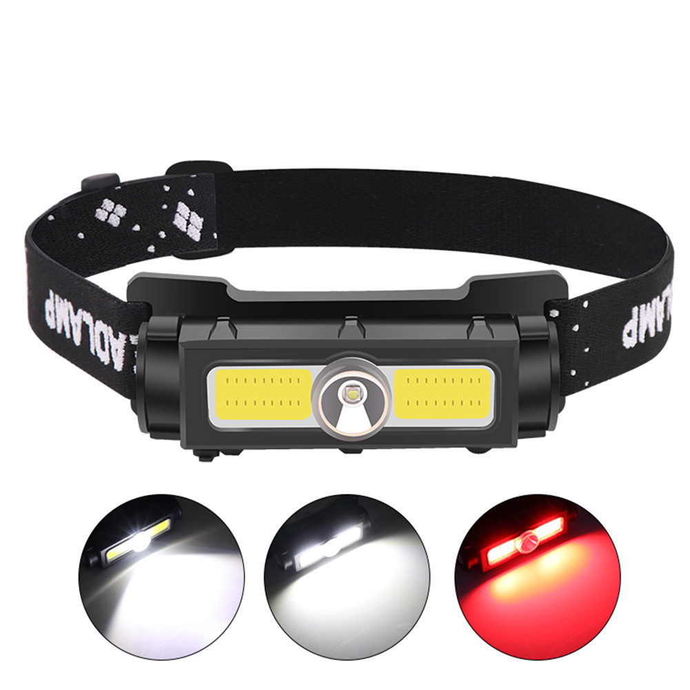 7-levels Recharging Headlight Headlamp For Outdoor Sports Camping Fishing Black