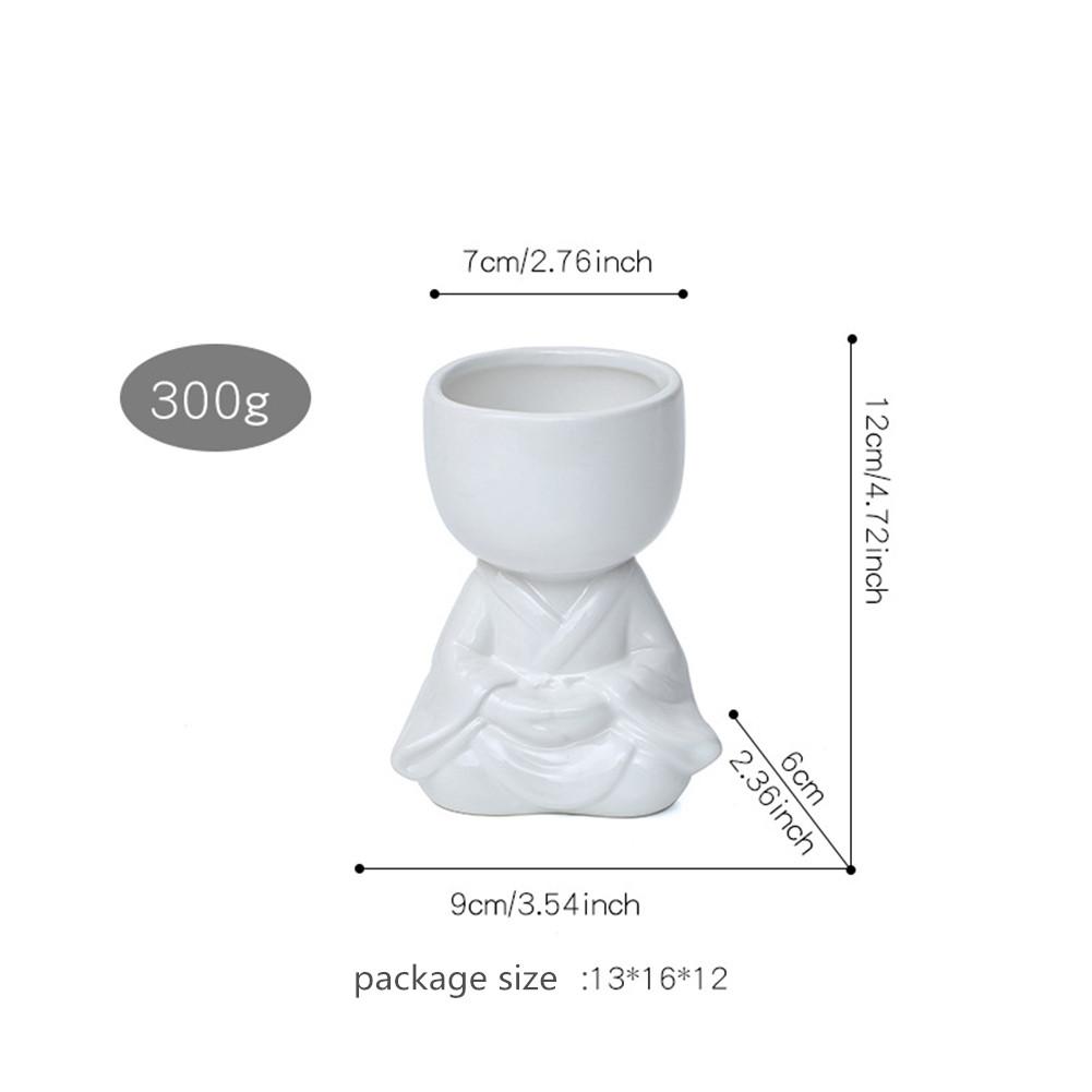 Handmade Ceramic Vase Succulent Flower Pot Household Decoration  Ornaments White