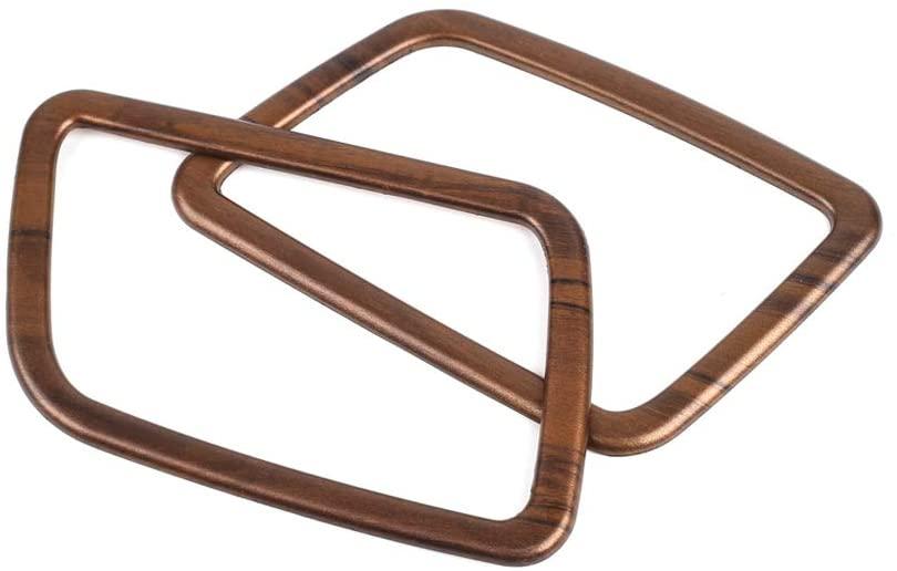 2pcs Peach Wood Grain Air  Vent  Trims Wind Outlet Decoration Dashboard Stickers For Honda Cr-v 2017 2018 2019 2020 Original wood grain_CRV&Haoying instrument panel small tuyere frame 2-piece set