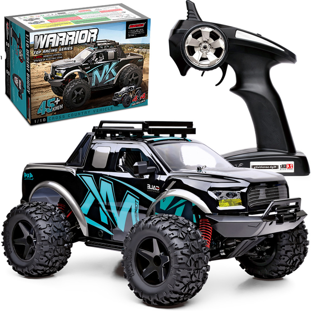 SUBOTECH BG1525 1/10 2.4G 4WD PF150 High Speed 45km/h Off-Road IPX4 Waterproof Proportional Control RC Car blue
