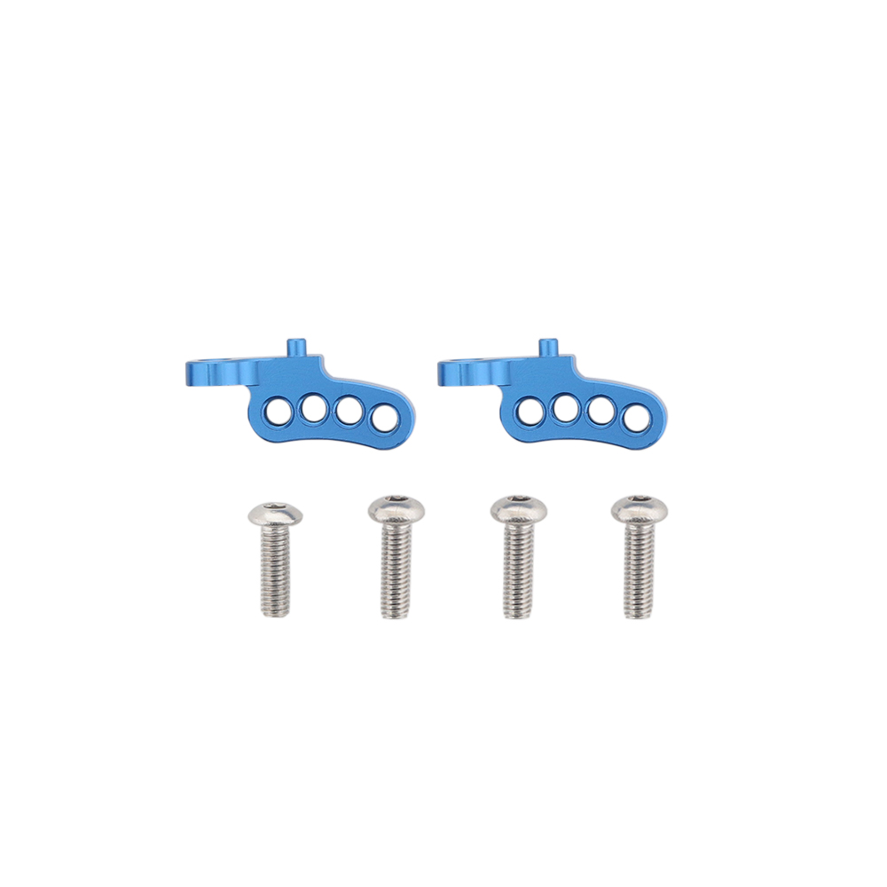 Aluminum Adjustable Front Rear Upper Damper Shock Mount for RC 1/10 TAMIYA CC01 Blue rear