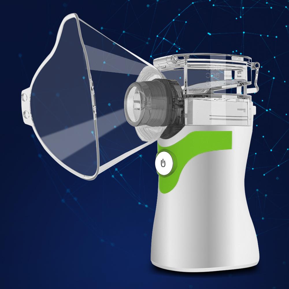 Ultrasonic Humidifier Handheld Atomizer Children Mini Inhaler Respirator Care Atomizer Home green