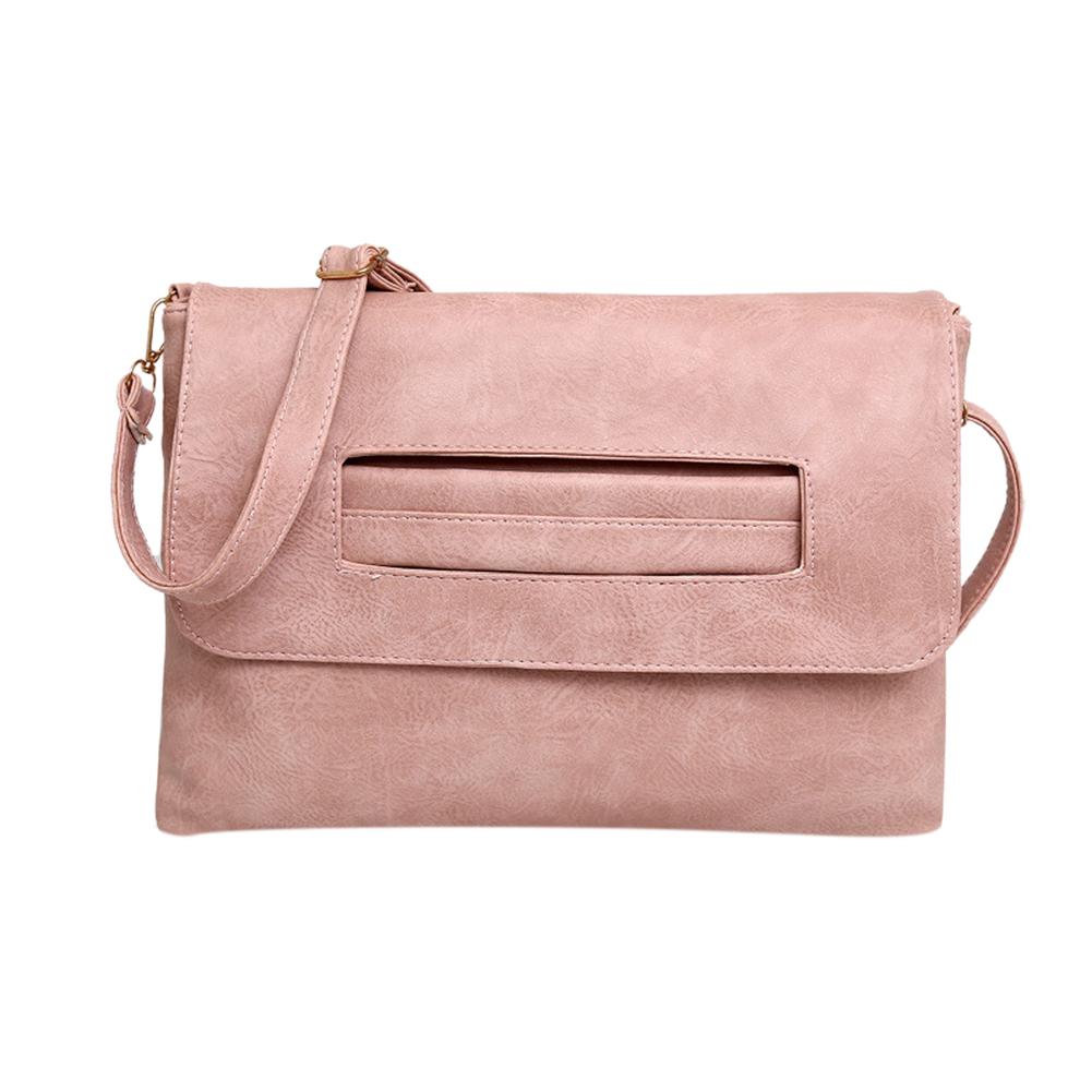 Women PU Leather High Capacity Handbag Retro Clutch Envelope Shoulder Bag Leisure Stylish Wallet