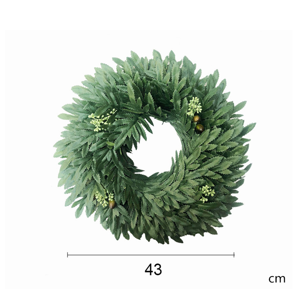Simulate Leaves Wreath for Wedding Home Decoration