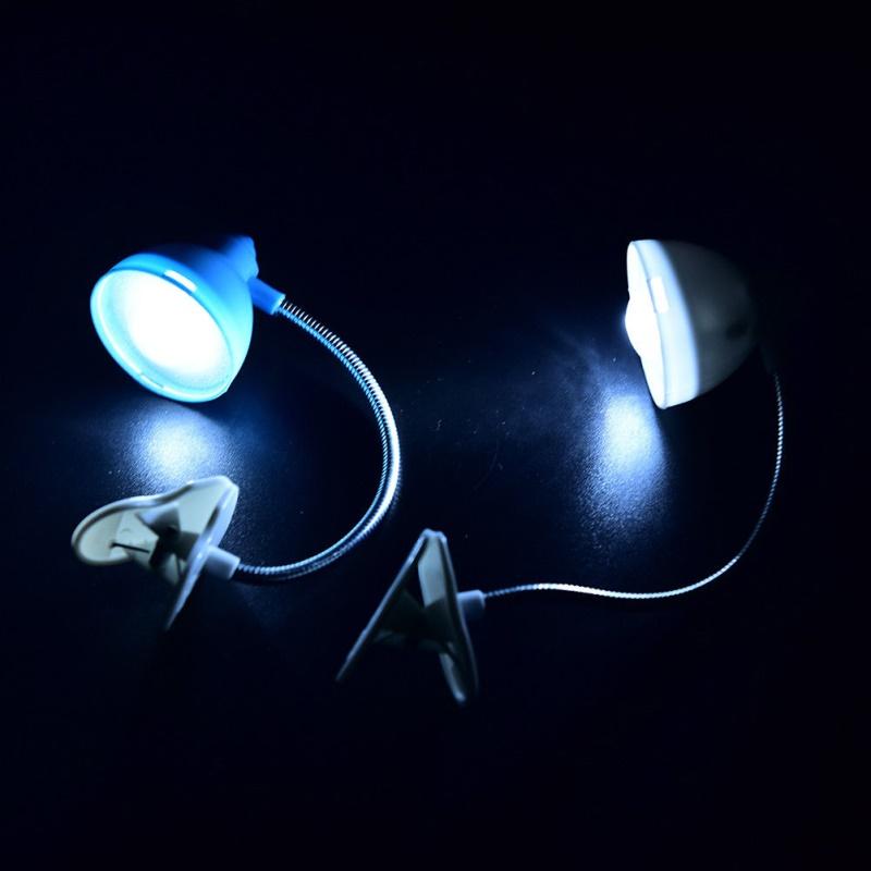 Adjustable Clip On Book Reading Light Eye Protection Mini LED Bedside Table Lamp blue_5 * 4.5 * 18CM