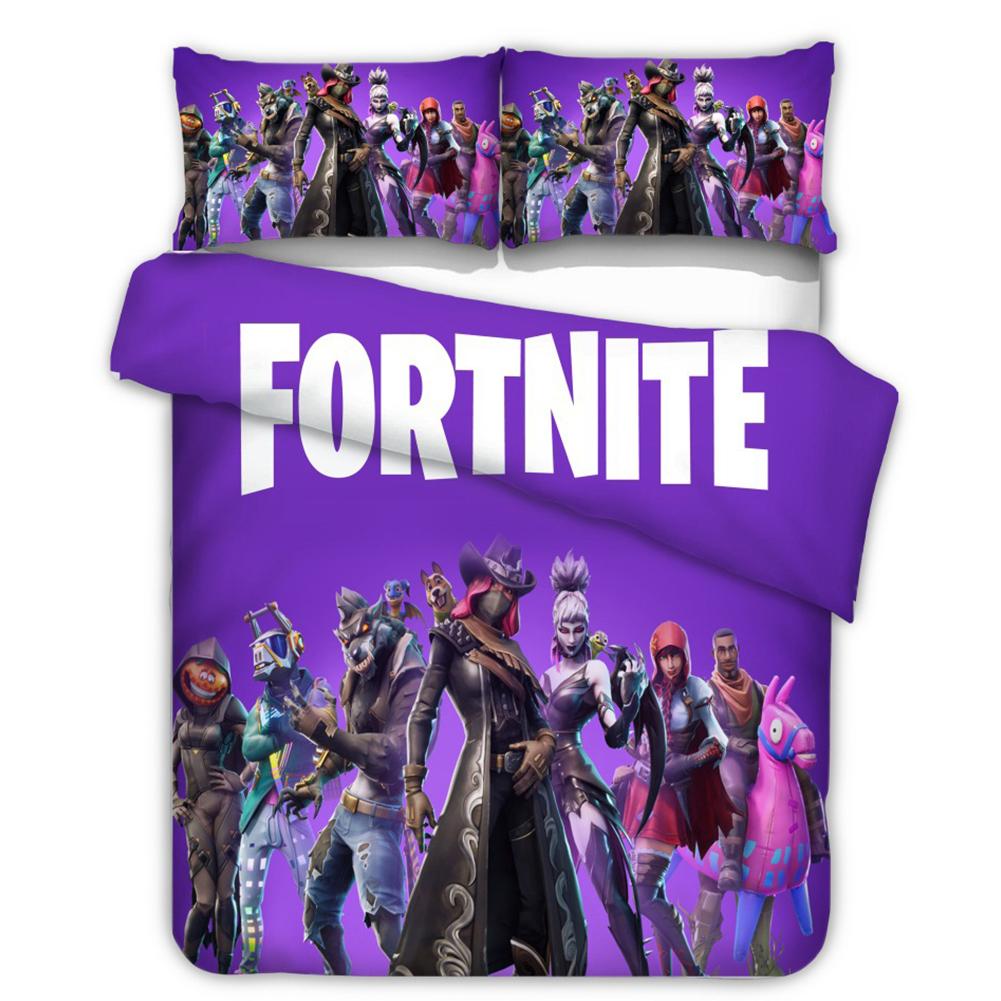 2Pcs/3Pcs 3D Cartoon Game Battle Duvet Cover Pillow Cover Bedding Set  Fortress Night 20