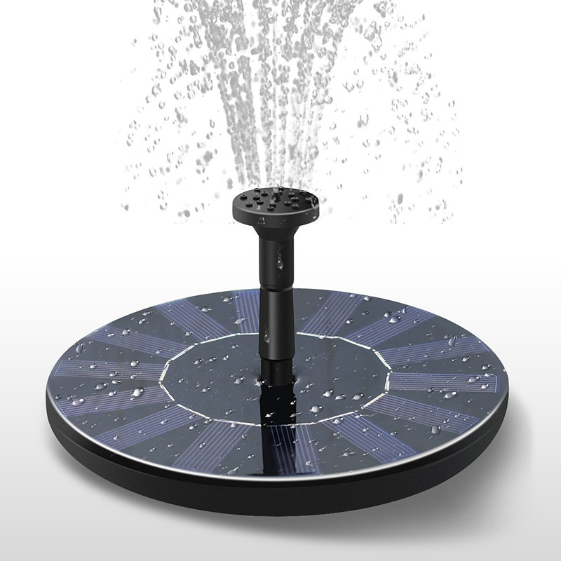 Mini Floating Solar Powered Fountain for Outdoor Garden Decoration Photo Color