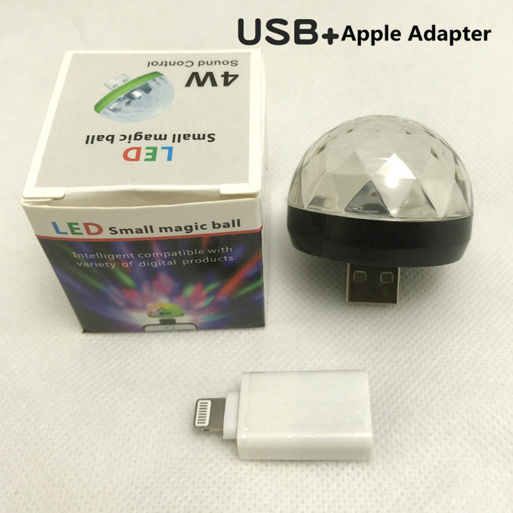 USB Rechargeable Voice Control Magic Ball Lamp with Adapter black