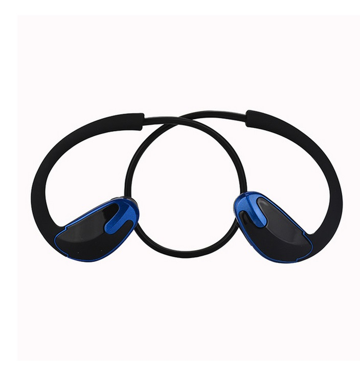 R8 Bluetooth Earphones Neckband Sport Headphones with Mic Wireless Stereo Bluetooth Headset Built-in 180mAh Battery dark blue