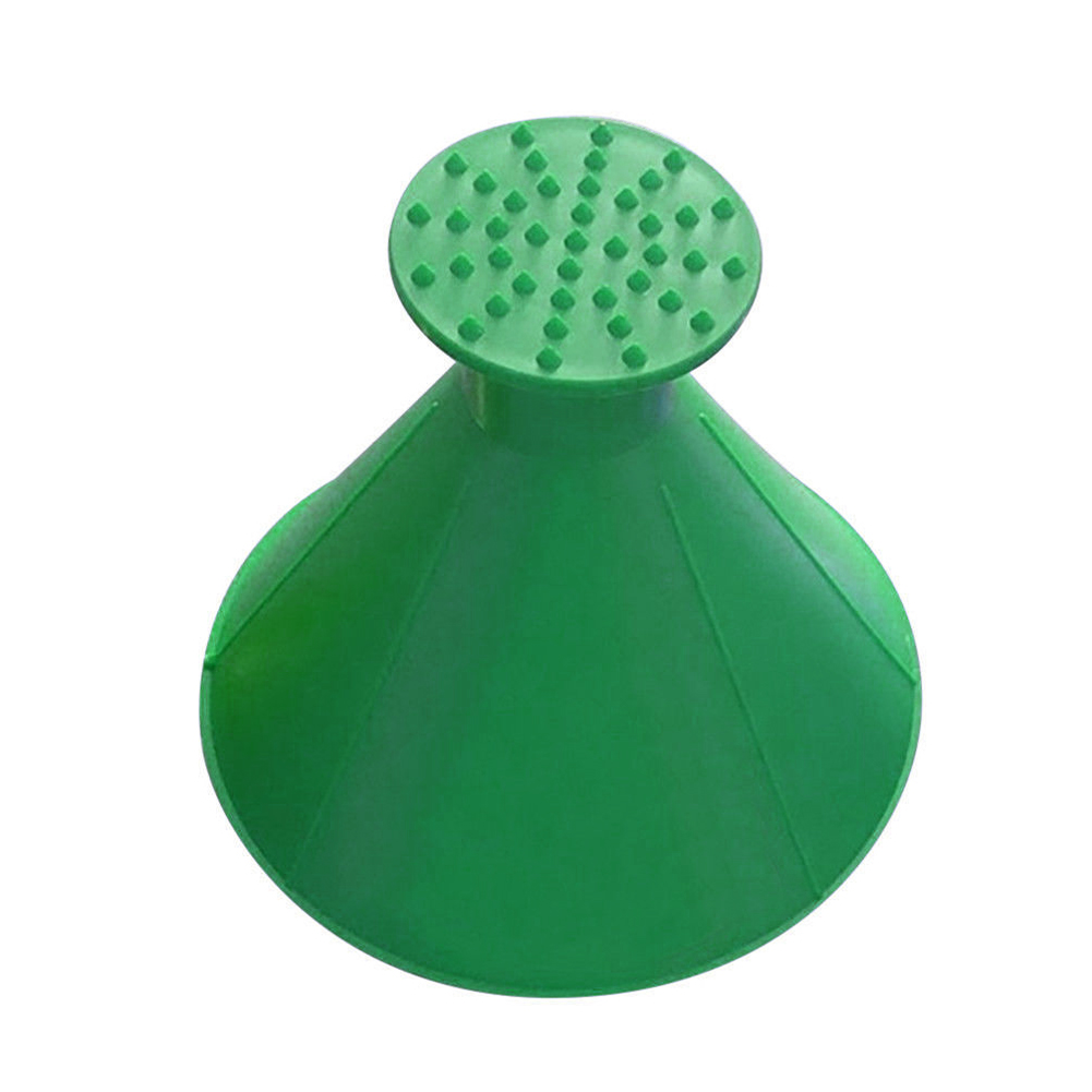 Car Windshield Ice Scraper Tool Cone Shaped Outdoor Round Funnel Remover Snow green