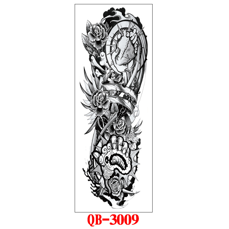 Fashion Tattoo Stickers Waterproof Long-lasting Tattoos for Men Women 170*480mm_QB-3009