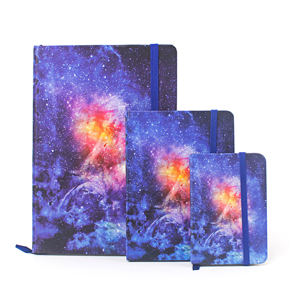 Fashion Student Hardcover Rubber Band Notebook (Random Style) A7: 10.5*7.5cm