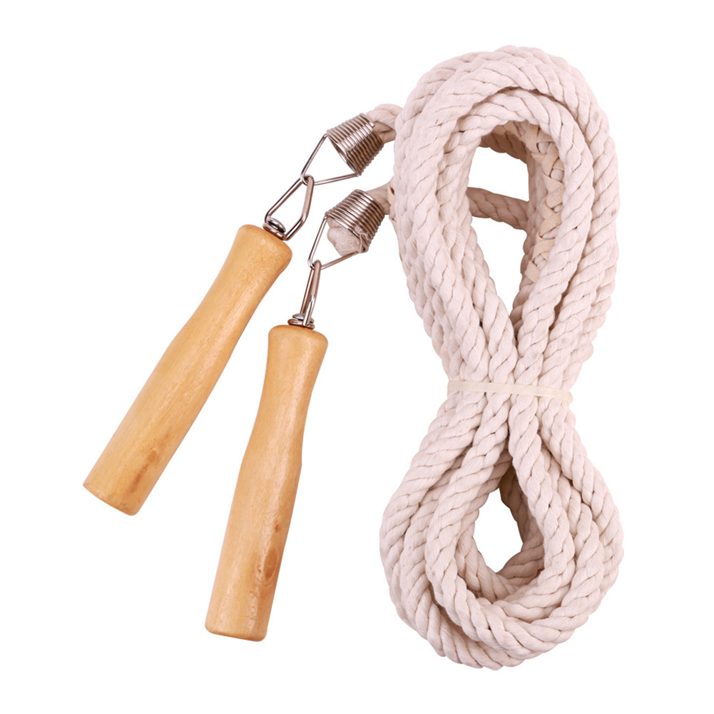 Cotton Linen Jump Rope Adjustable Single Team Skipping Rope for Fitnesss Exercise 5m