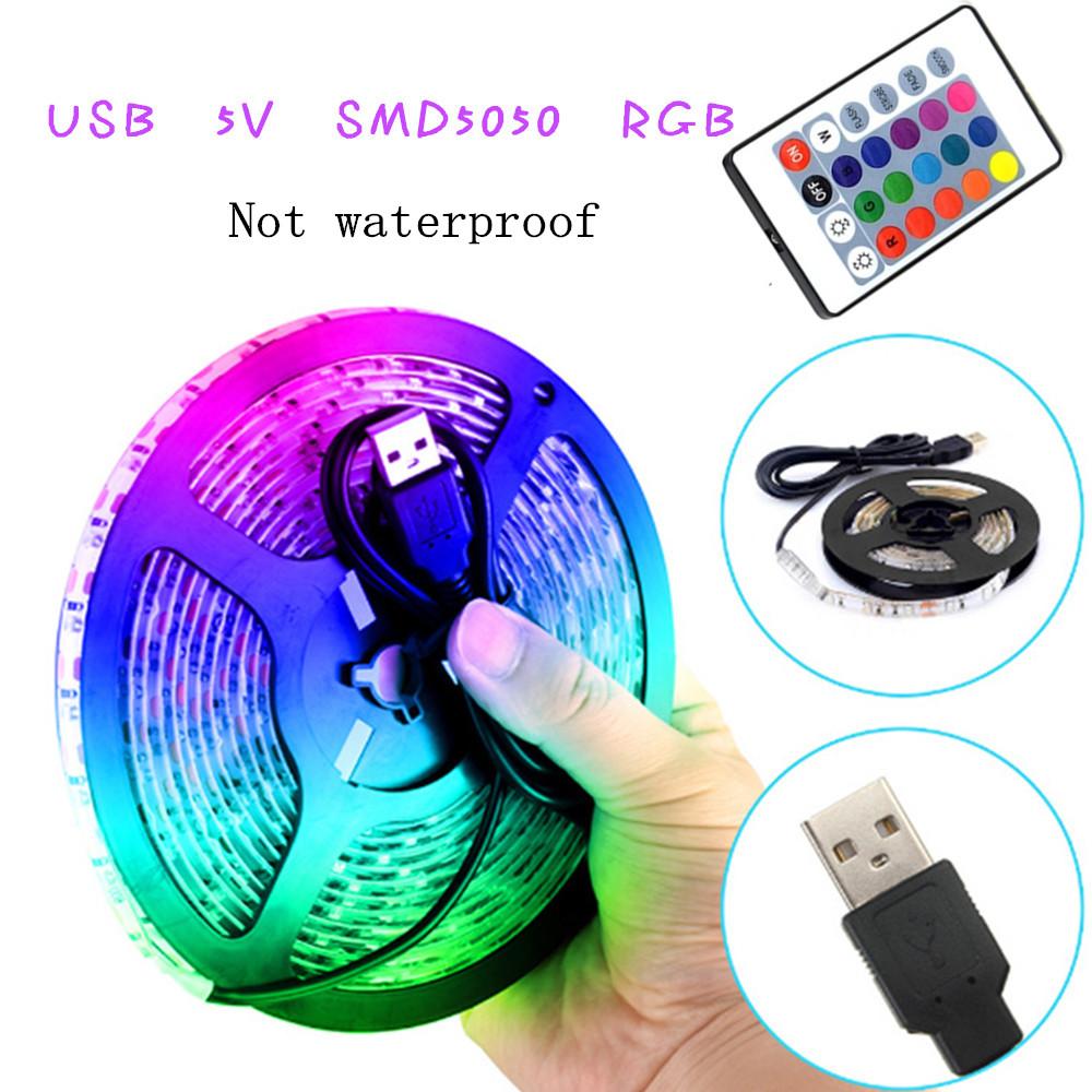 USB 5V Soft 7 Colors Change String Light with Remote Control for TV Background Decor 50cm 15 lights