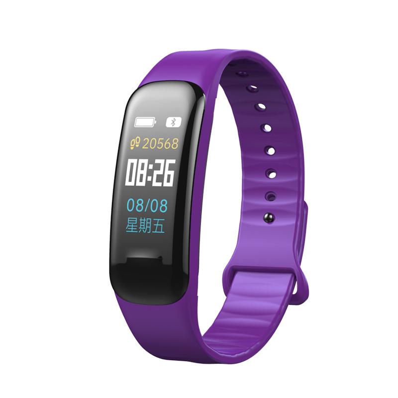 Fitness Bracelet C1S Smart Watch Waterproof Smart Bracelet Heart Rate Monitor Health Tracker bracelet purple