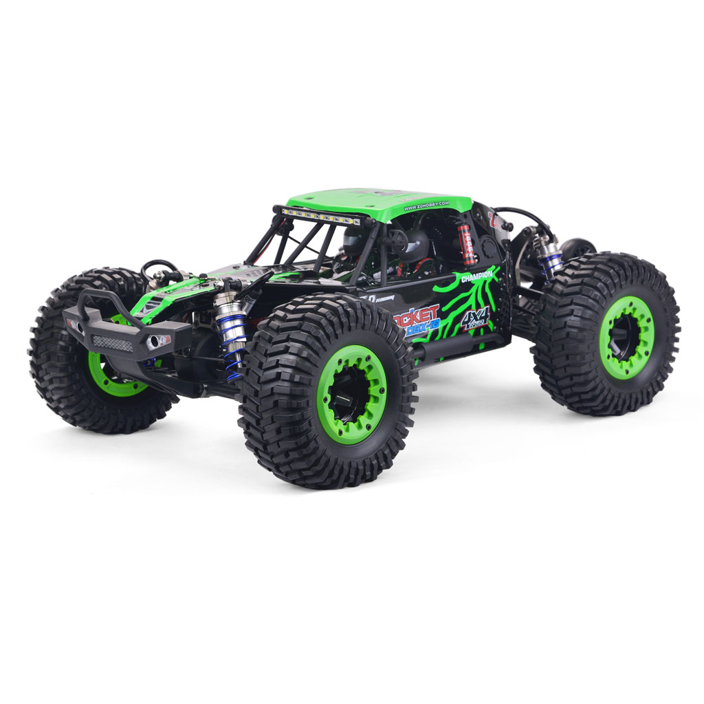 ZD Racing DBX 10 1/10 4WD 2.4G Desert Truck Brushless RC Car High Speed Off Road Vehicle Models 80km/h W/ Head Up Wheel  green
