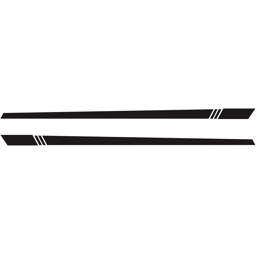 2pcs/lot 220x8cm Car Sticker Stripe Style Side Stripes Car Both Body Stickers Decal Car Wrap Vinyl Film Automobiles Products Car Accessories black