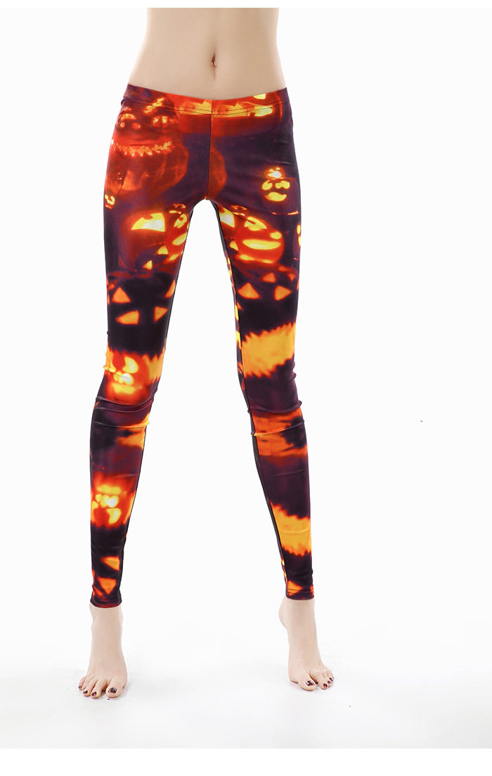 Female Halloween Elements Printing Long Trousers Slim Cosplaying Costume  KDK1413_XL