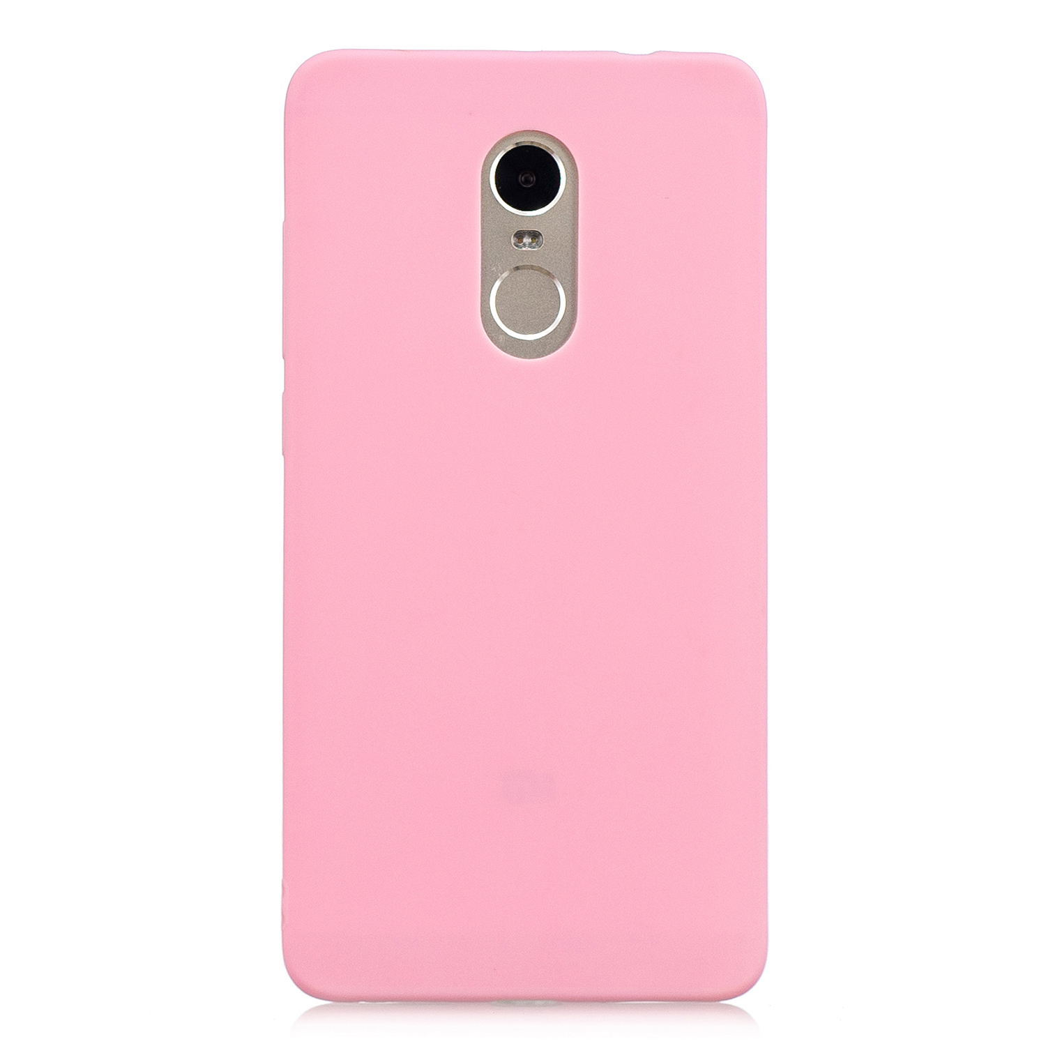 for XIAOMI Redmi NOTE 4X/NOTE 4 Lovely Candy Color Matte TPU Anti-scratch Non-slip Protective Cover Back Case dark pink