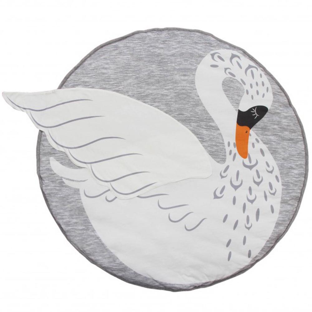 Cartoon Animals Soft Round Decorative Carpet Pad Play Crawling Non-slip Mat Play  Mat Toy Christmas Gifts swan